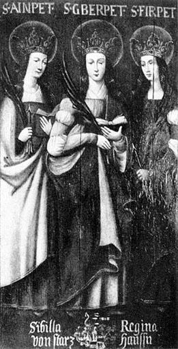 «Die drei Bethen» i kapellet i Leutstetten i Oberbayern (1620)